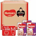 Huggies Wonder Pants Diapers Medium @ Rs.1759 MRP Rs.3199 ( 45 % off) (7.71 per pcs)