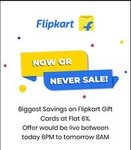 Flipkart gv at 6% discount (Now or never sale)