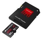 Strontium Nitro A1 64GB Micro SDXC Memory Card 100MB/s A1 UHS-I U3 Class 10 with High Speed Adapter (SRN64GTFU3A1A)