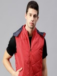 HRX by Hrithik Roshan Men Red Solid Hooded Padded Jacket