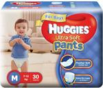 Huggies Ultra Soft Pants Diapers for Boys, Medium (Pack of 30) - Rs 299