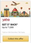 Get 5% cb (upto 1000) using Amazon Pay on Yatra