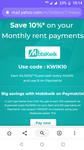 Paymatrix : 10% cashback as supercash(upto ₹1000)  on rent and bill payment via mobikwik wallet