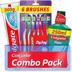 Colgate Active Salt Combo 6 Brushes, Mouthwash, Toothpaste  (3 Items in the set)