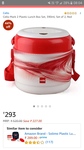 Cello Mark 2 Plastic Lunch Box Set, 390ml, Set of 2, Red Rs.293 @ Amazon