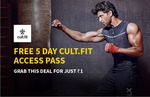 Free Cult.fit 5 Day Pass + Rs. 20 Cashback on Rs. 20 Recharge for Rs. 1 - Freecharge