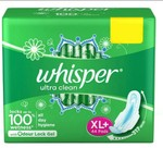 Whisper Ultra Clean XL Plus Wings Sanitary Pads 44s