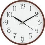 Precisio Analog 25 cm X 25 cm Wall Clock  (Brown, With Glass)