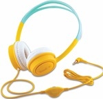 iBall Kids Diva Kids Safe Wired Headphone with in line Volume Controller-Yellow and Light Blue Rs.399 @ Amazon