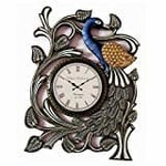 (over)RoyalsCart Peacock Handcrafted Analog Wall Clock, Multi