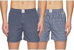 ABOF Men's Regular Fit Shorts (Pack of 2) at Rs.249