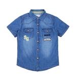 Pantaloons Junior Dark Blue Cotton Washed Shirt