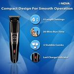 Novq NHt 1076 Trimmer with 3 combs