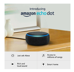 Echo Dot (3rd Gen) – New and improved smart speaker with Alexa (Black) with 400 coupon