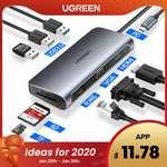 Aliexpress Rs. 863.36  32%OFF   Ugreen USB HUB C HUB to Multi USB 3.0 HDMI Adapter Dock for MacBook Pro Accessories USB-C Type C 3.1 Splitter 3 Port USB C HUB@863rs
