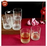 Iveo Whisky Glass Set, 275ml, 6-Pieces, Clear