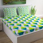 Divine Casa Cotton Geometric Print Double Bedsheet