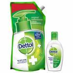 Pantry] Dettol Germ Protection Liquid Handwash Refill, Original - 750 ml with Dettol Instant Hand Sanitizer - 50ml Rs.95 @ Amazon