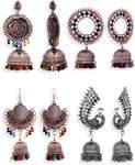 ALYSA Combo 4 Pair Multicolor Stylish Earrings Women Fancy Trendy Wear Girls
