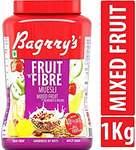 [Pantry ]  Bagrry's Fruit N Fibre, Mixed Fruit Muesli, 1000g Jar