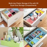 Storage Drawer Organiser For Undergarments, Socks & Accessories (Set of 4, Assorted Colours)