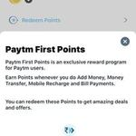 paytm first points