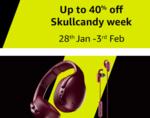 Skullcandy week 28 Jan -3 Feb : Flat cashback of INR 1000 as Amazon Pay balance on purchase of Skullcandy Crusher Active Noise Cancellation Wireless Over-Ear Headphone