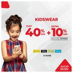 Flat 40% off + Extra 10% off (Spykar, Pepe Jeans, Lee Cooper, Levis & More)