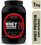 Sinew Nutrition Instantised Whey Protein Concentrate 79% Raw Unflavoured 1Kg Supplement Powder