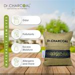 Dr. CHARCOAL Non-Electric Air Purifier, Deodorizer and Dehumidifier for Living Room, Kids Room, Bedroom, Pet Areas - 500 Grams (Classic Khaki)