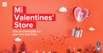 MI Valentine's store offer - Buy gifts from Rs. 99 only .