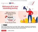 250 rs Amazon voucher on opening Kotak savings account via refer