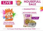 Grofers Houseful Sale Live - Upto 50% Off On Grocery & Free 500g Kishmish With Every Oder