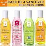 NutriGlow NATURAL'S HAND SANITIZERS COMBO Of 4 Variants