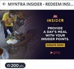 Donate Meals, Safety Kits and Minimum Wages to Labourers using Myntra Insider Points