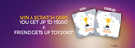 Refer and earn scratch card upto Rs 2000
