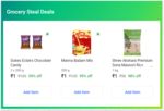 Grocery Steal Deals - 3 Items For Rs.3 (1kg Rice + Dukes Eclairs Chocolate + Badam Mix)