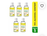 Dr. Morepen Protect Hand Sanitizer Gel With Lemon Extract 5 Pcs Hand Sanitizer 100 mL Pack of 5
