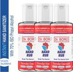 DR. BORO 3x200ml Hand rub ( Pack of 3 ) Hand Rub Bottle  (3 x 200 ml)