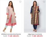 Biba women's kurta & dresses Upto 50% off + 5% extra on prepaid