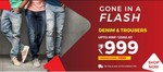 Flash Sale - Denims & Trousers At Rs 999
