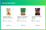 Grocery Steal Deal - 4 Items For Rs.4 In 3 Cities - Delhi , Bangalore , Hyderabad
