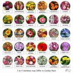 Pack of 30 flower seeds @ Rs. 7/- per flower type