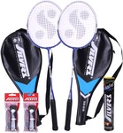 Silver's SB-818 Badminton Kit  (2 Racquets with Cover, 1 Box Shuttlecock and 2 PVC Grips)