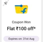 PhonePe : Send ₹1 to anyone and get ₹100 off Flipkart Grocery Coupon (only for new Customers)