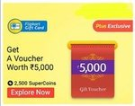 Get Rs.5000 Worth Flipkart Gift Card in exchange of 2500 supercoins (offer is back again)