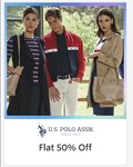 Myntra- Flat 50% Off On Us Polo Assn Clothing Upto 70% Off