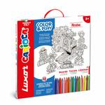 Luxor Carioca : Pirates Felt Tip Pens with washable ink (Assorted color, 48 Pieces + 3D Model)