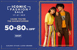 Iconic Fashion Sale  17th - 21st Sept   50-80% off