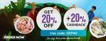 Get 20% Off + 20% Cashback on Your First Order